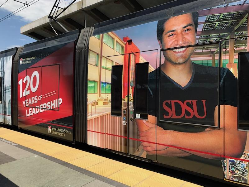 SDSU-Themed Trolley