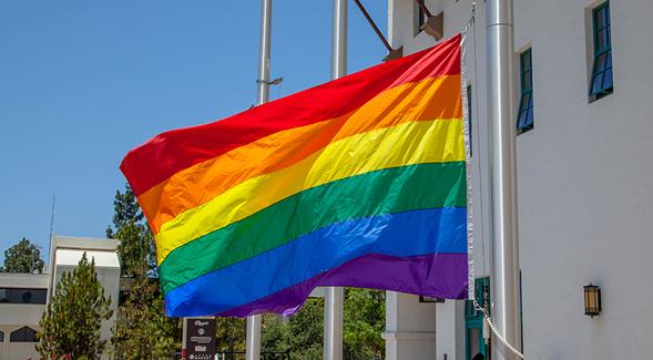 The 10th annual Rainbow Flag Raising Ceremony at SDSU