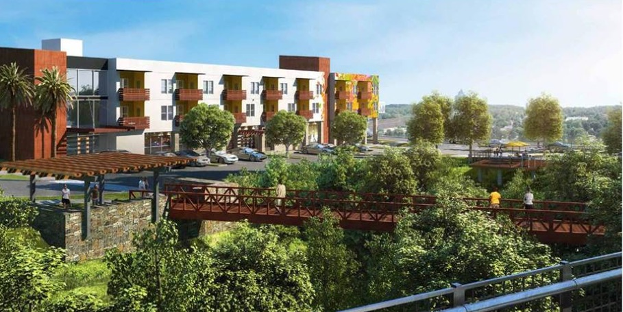 Rendering of mixed-use development in Encanto.