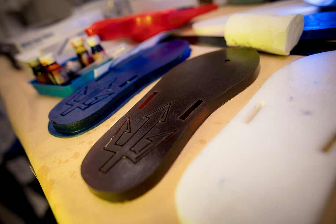 These renewable flip flops, now produced in an array of colors, are allowing the UC San Diego team to fine tune the chemistry for future shoe soles, car seats and other products traditionally made from petroleum.