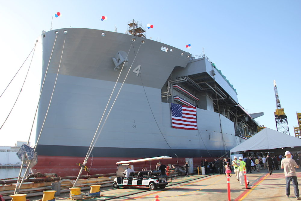 """USNS Hershel """"Woody"""" Williams is the Navy's second ESB ship."""