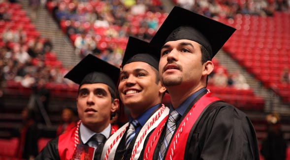 SDSU students at commencement (Courtesy of SDSU)