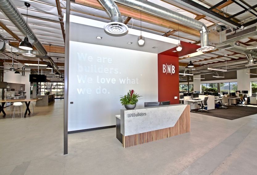BNBuilders' new 10,000-square-foot office was designed by Ware Malcomb.