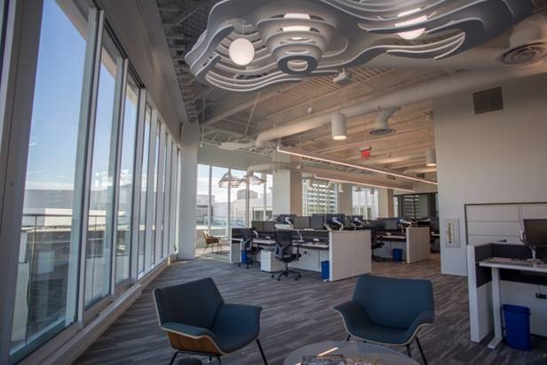 The new space is part of CBRE's global Workplace360 initiative.