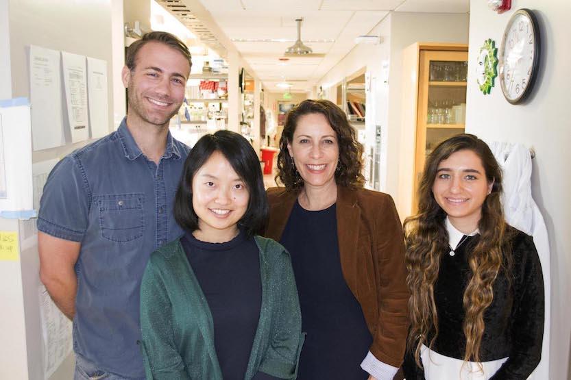 Nature paper coauthors, from left, Justin Milner, Bingfei Yu, Ananda Goldrath and Clara Toma.
