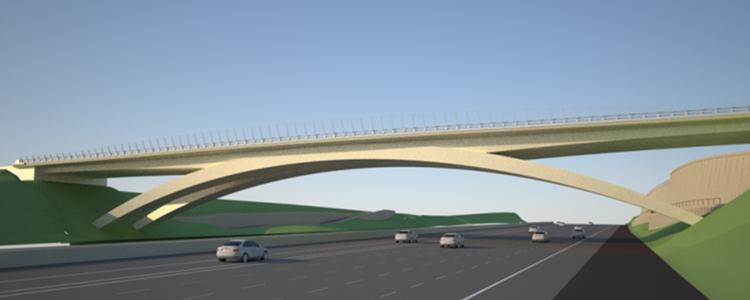 Rendering of the Gilman Drive Bridge. (Courtesy of SANDAG)