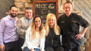 Nick & G's management team: Kevin Ashe, Tim Snyder , Leah Mizrahi, Sandy Dicicco and Brian Freerksen.