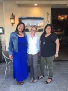 From left, writers Mindy Flanary and Joyell Nevins with contributor Allie Talavera.