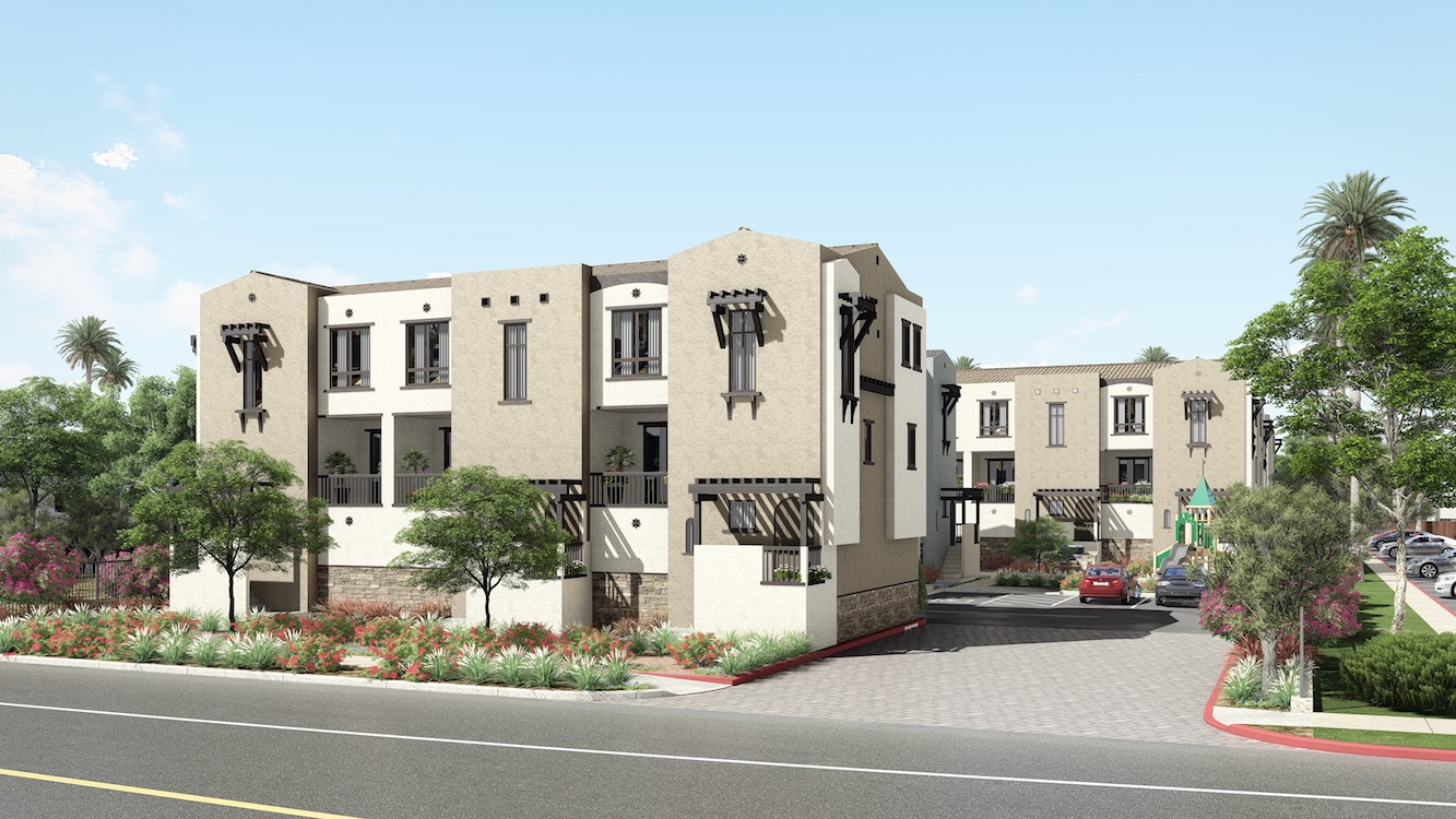 Rendering of Montivo townhomes