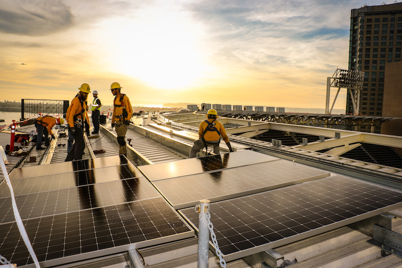 The Sullivan Solar Power system utilizes 716 high-efficiency, 470-watt Sunpower solar modules, and will produce over 12 million kilowatt hours over the next 25 years.