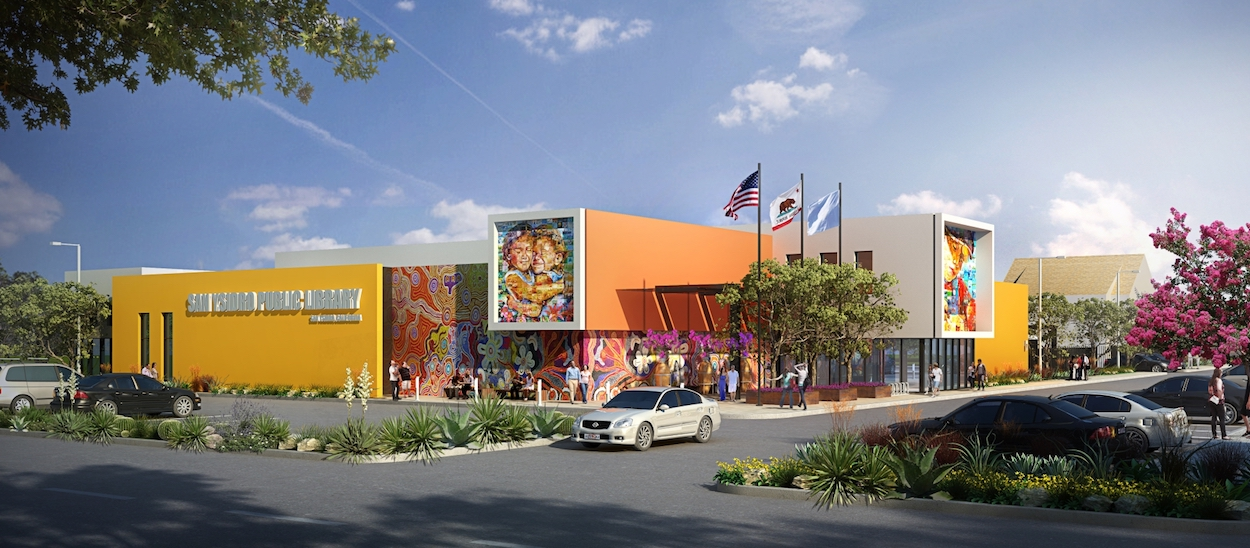 Rendering of the San Ysidro Branch Library. (Courtesy of SVA Architects)