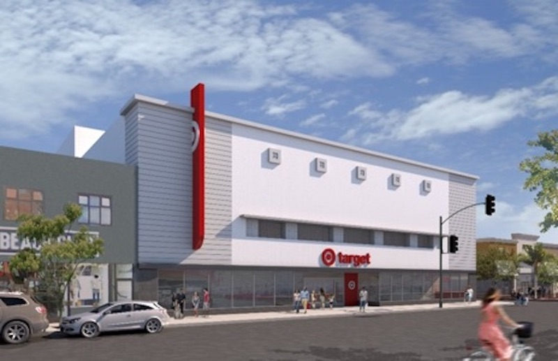 Rendering of the North Park small-format Target store.