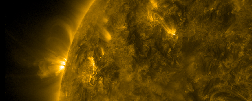 Magnetic loops gyrate above the sun, March 23-24, 2017. (Photo: NASA/GSFC/Solar Dynamics Observatory)