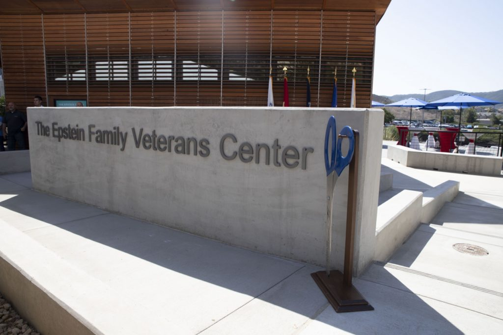 The Epstein family made a $1 million gift in support of the expansion and renovation of CSUSM's Epstein Family Veterans Center. (Photo by Andrew Reed)